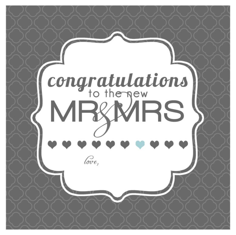 Wedding Gift Card Quotes: 10 Free, Printable Wedding Cards That Say Congrats