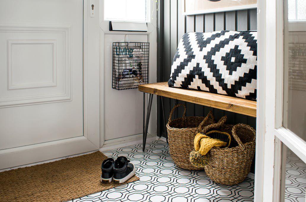 wallpaper entryway floor