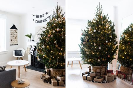 scandinavian christmas neutral xmas tree