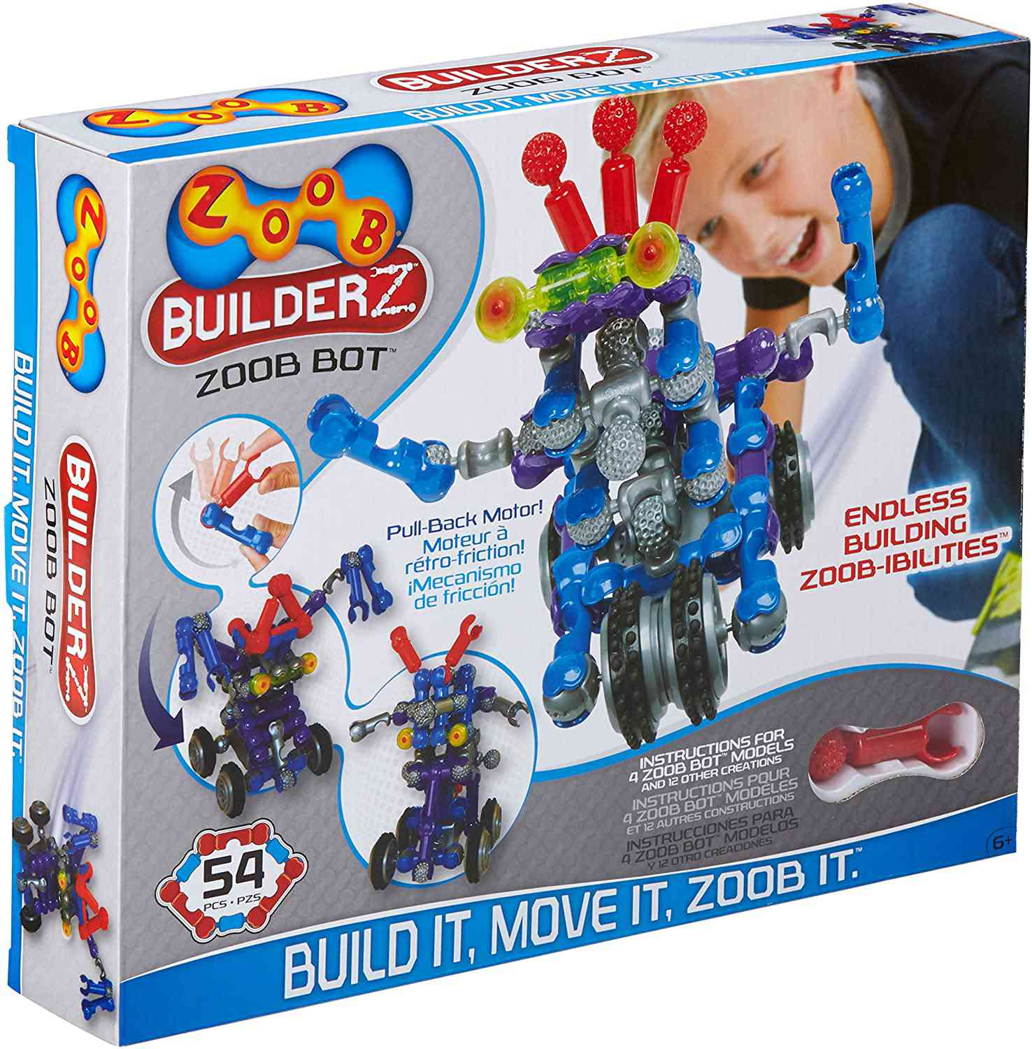 ZOOB BuilderZ ZOOB Bot Moving Building Modeling System