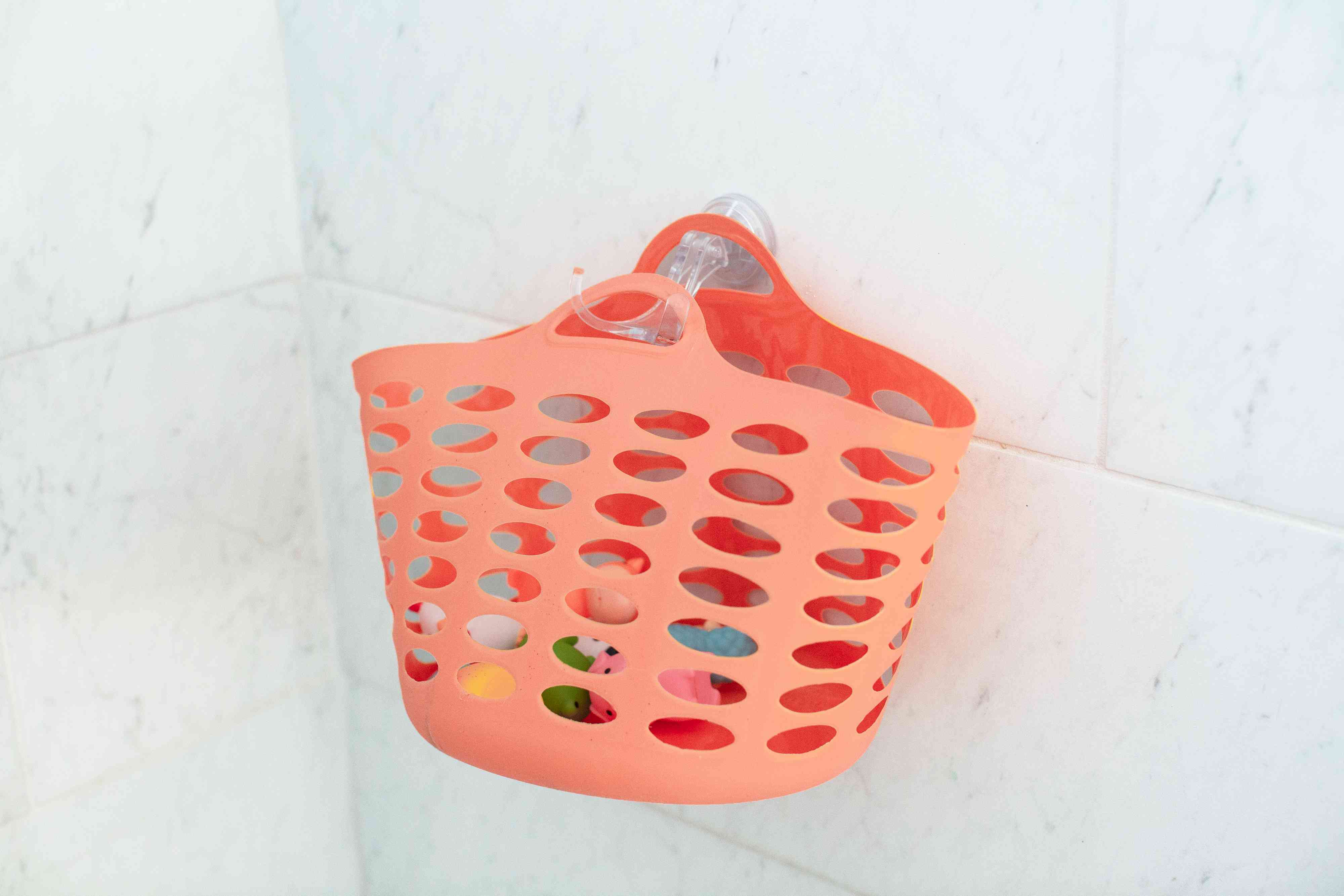 suction cup storage in the shower