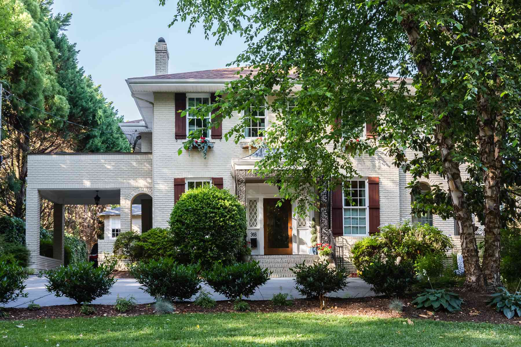 Classic Colonial Spanish Home with exterior arches