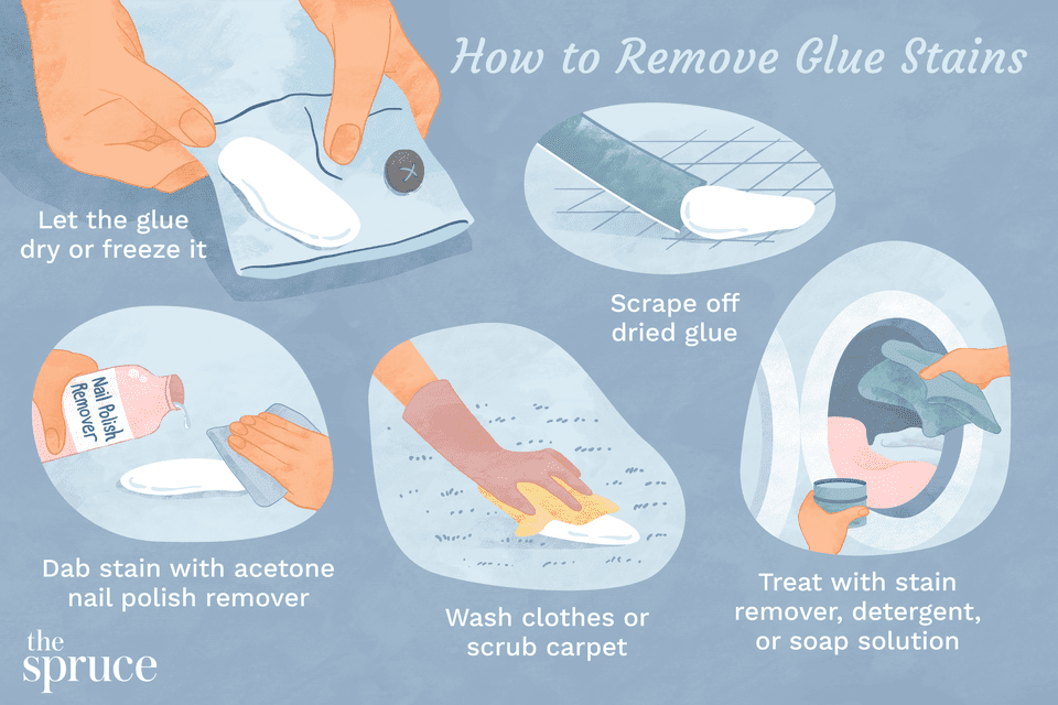 How to Remove Glue Stains