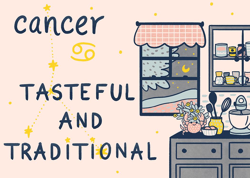 cancer home decorating illustration