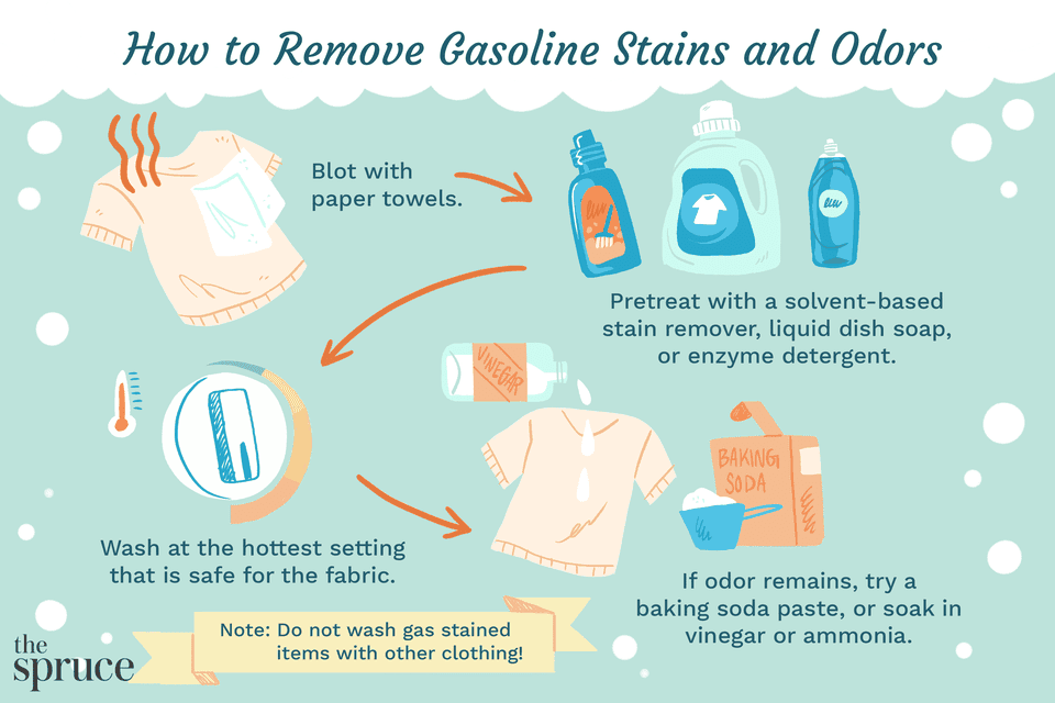 How to Remove Gasoline Stains and Odors