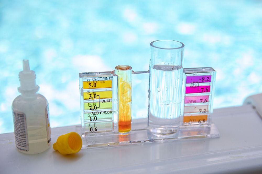 Chlorine water test