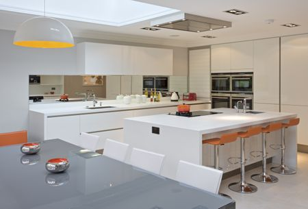 Bright Modern White Kitchen