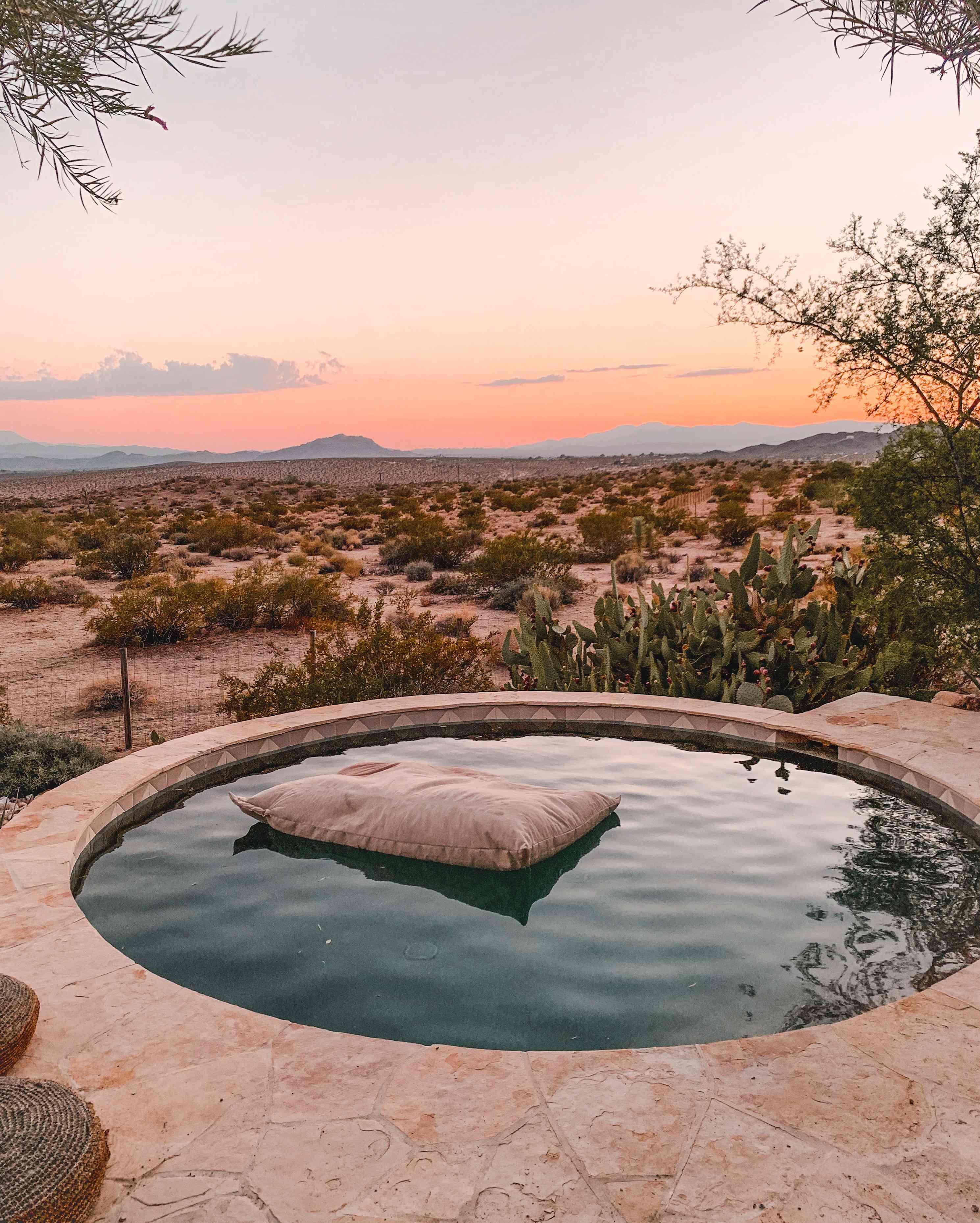 Spa-like hot tub at The Joshua Tree House