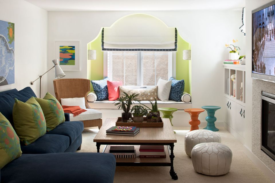 Moroccan-inspired living room