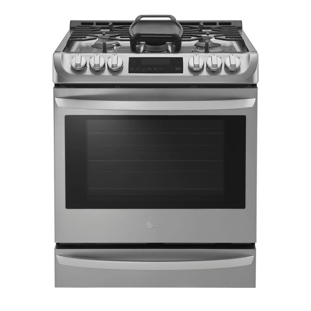 LG 6.3 cu. ft. Slide-In Gas Range with Probake Convection Oven