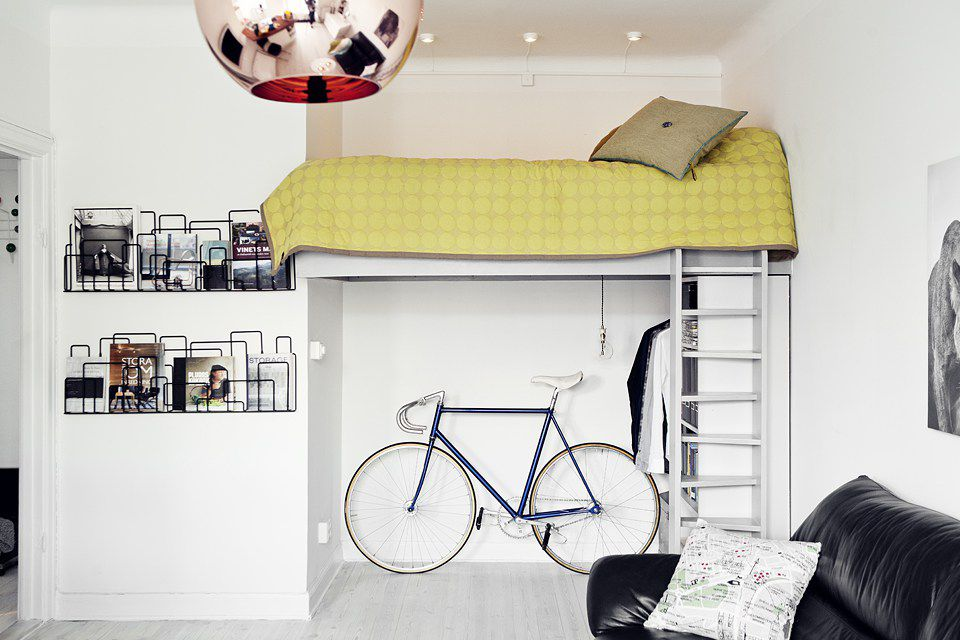 Loft Bed Room for a bike
