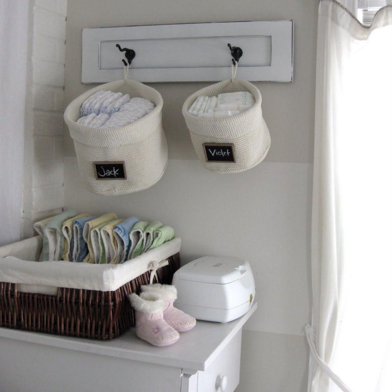 Hook-up diaper caddy storage