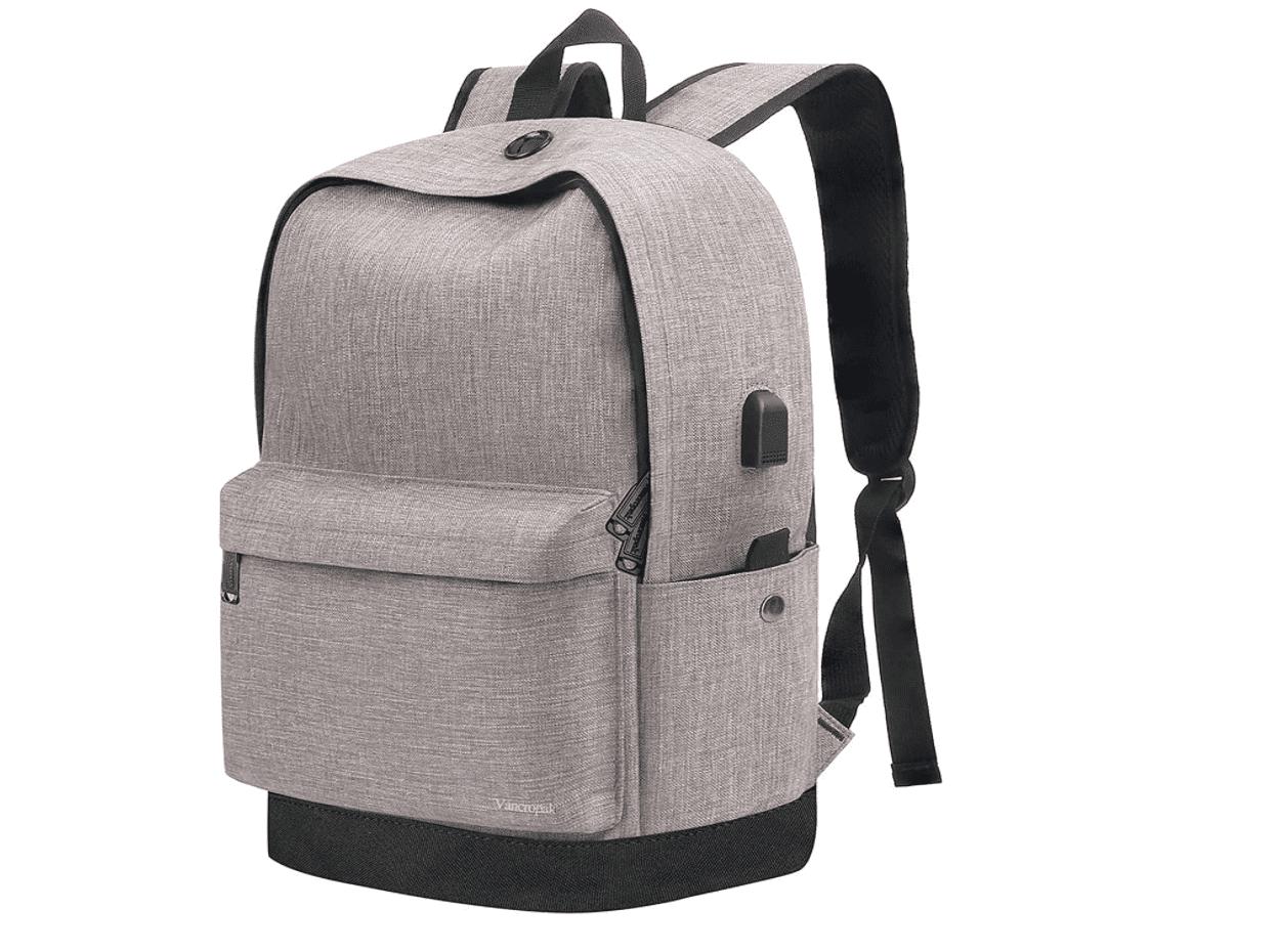 Vancropak Backpack with USB Charging Port