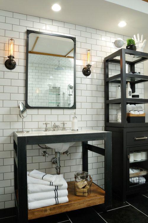 Small Bathrooms Ideas Photos Bathroom White Subway Tile Mosaic Floor