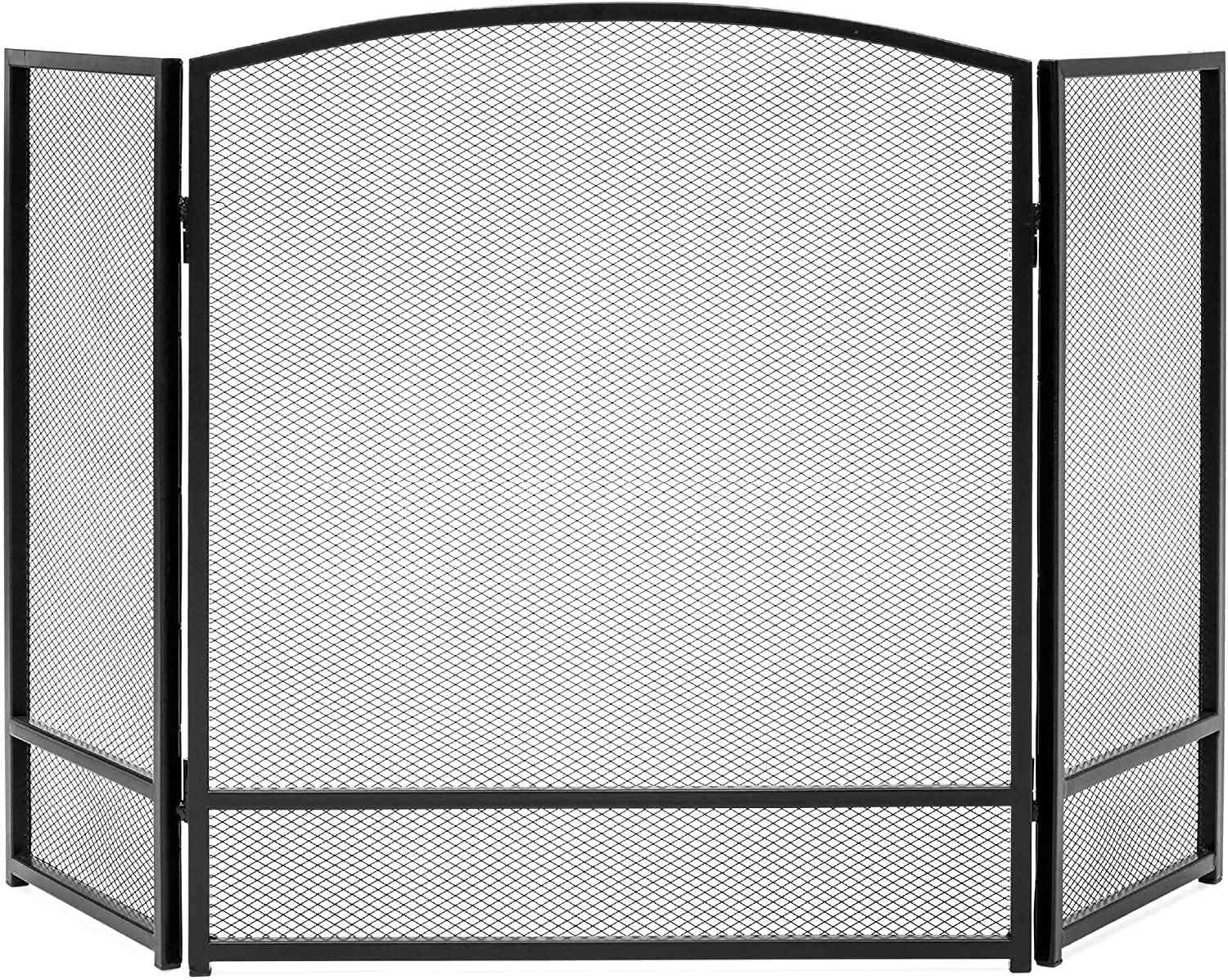 Best Choice Products 3-Panel Simple Steel Mesh Fireplace Screen