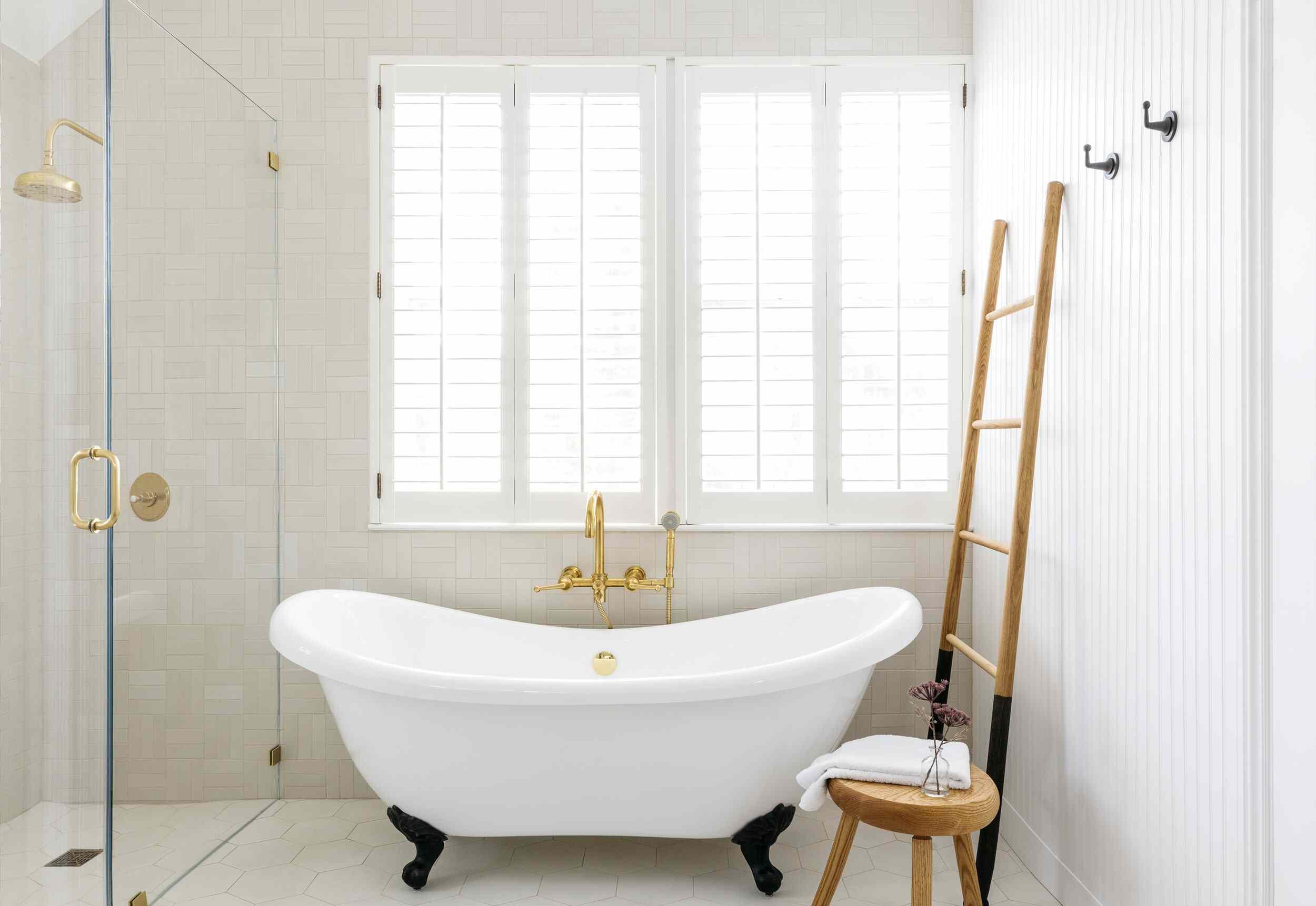 Bathroom with wall paneling