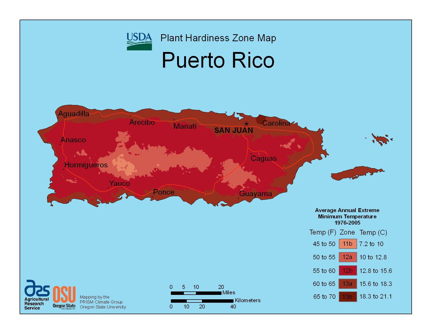 Photo of Puerto Rico Hardiness Zones