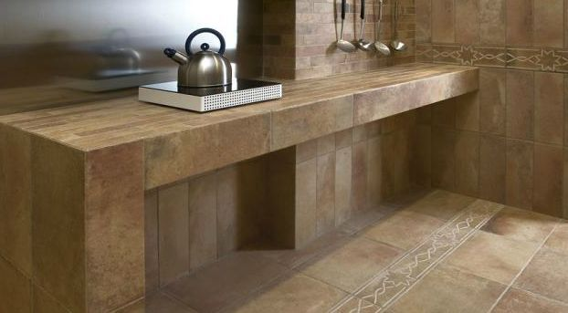 11 Tile Counter Ideas for Kitchens and Baths Ideas For Kitchen Countertops Tile on tile backsplash ideas for granite countertops, plastic countertops for kitchens, tile backsplash ideas for kitchens, tile laminate countertops for kitchens, tile countertop layout ideas, tile flooring ideas for kitchens, tile counters, tile countertops for kitchen islands,