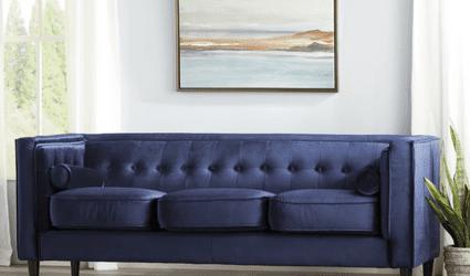 Wayfair Way Day Sale: Willa Arlo Roberta Velvet Sofa
