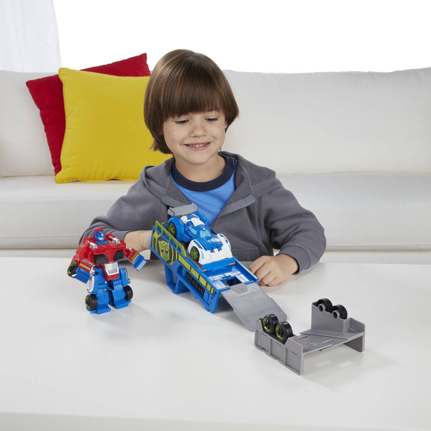 Rescue Bots Optimus Prime Racing Trailer