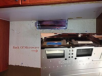 Over Range Microwave Venting