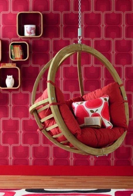 silla burbuja roja