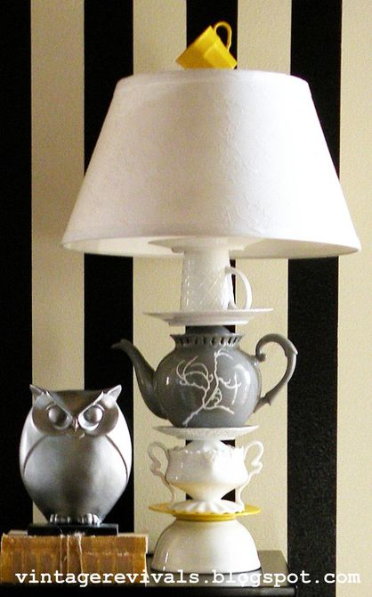 DIY Teacup lamp