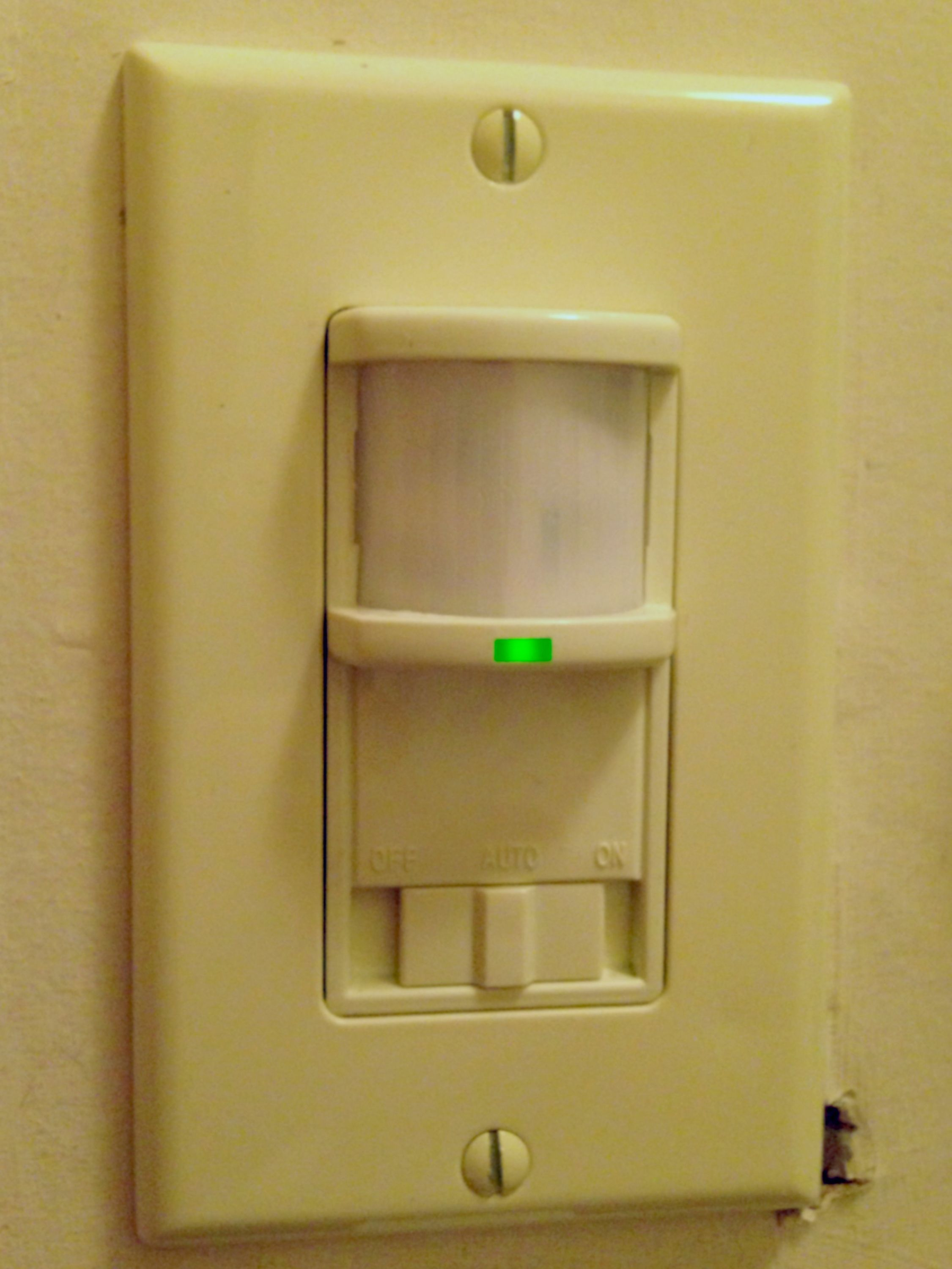 bathroom motion sensor light switch motion sensor light switch 22269