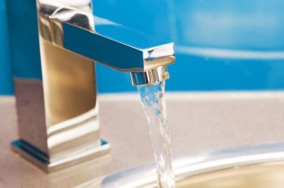 Sink Faucet Running