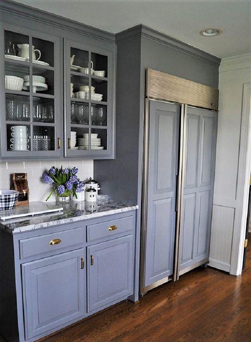 Hermosos gabinetes de cocina pintados de negro