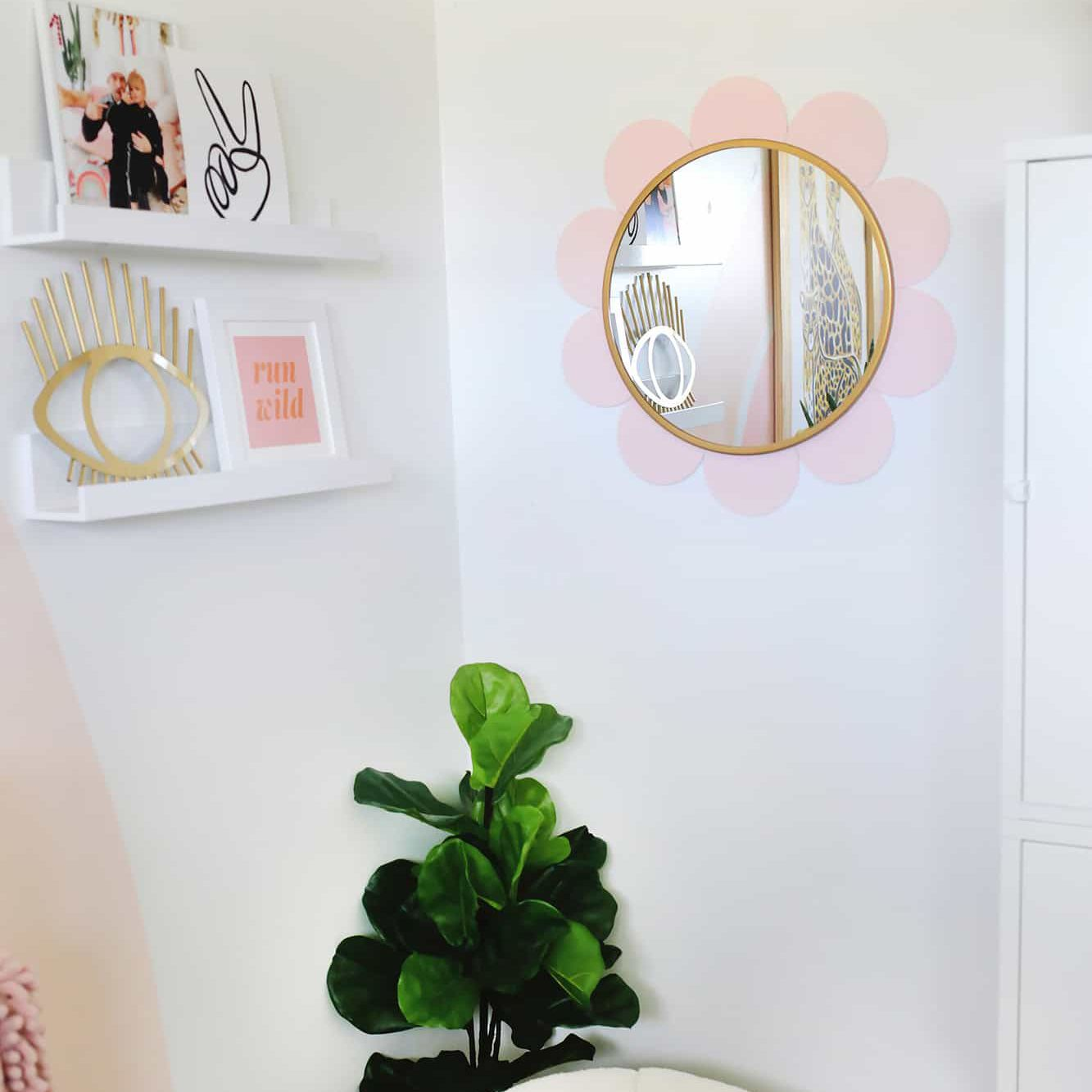 A DIY Mirror in the shape of a flower