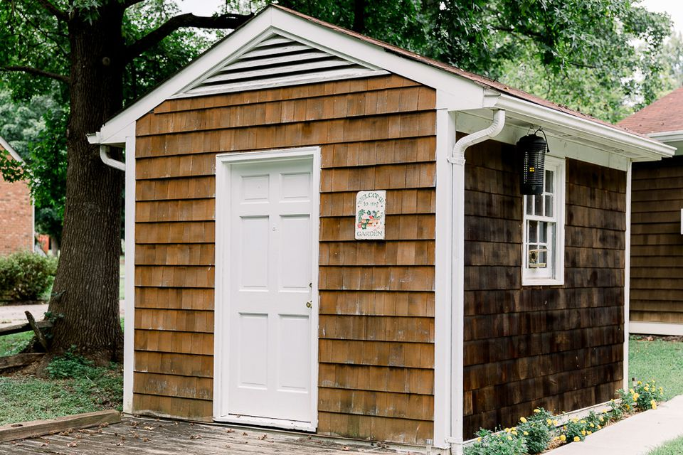 a quaint shed