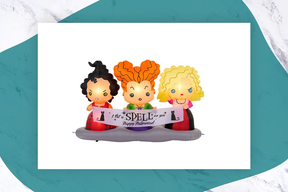 Hocus Pocus inflatable features the Sanderson Sisters