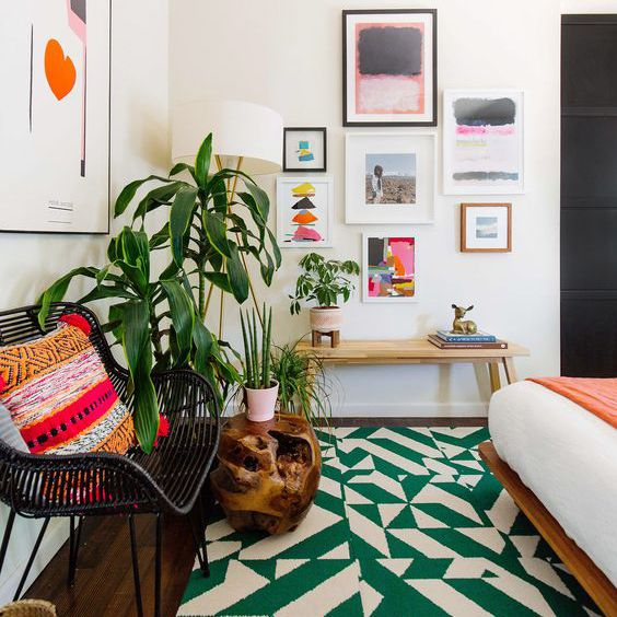 bright green rug