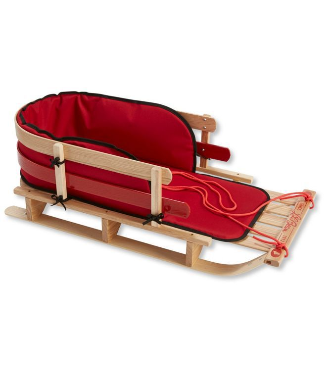LL Bean Kids' Pull Sled and Cushion Set
