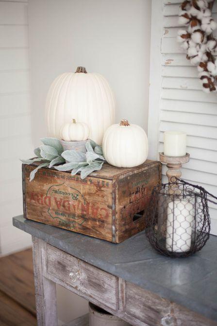 comedor de la cabaña de otoño