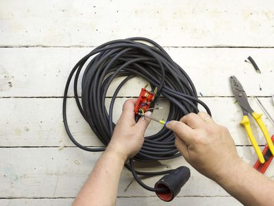 Electrical equipment used by an electrician