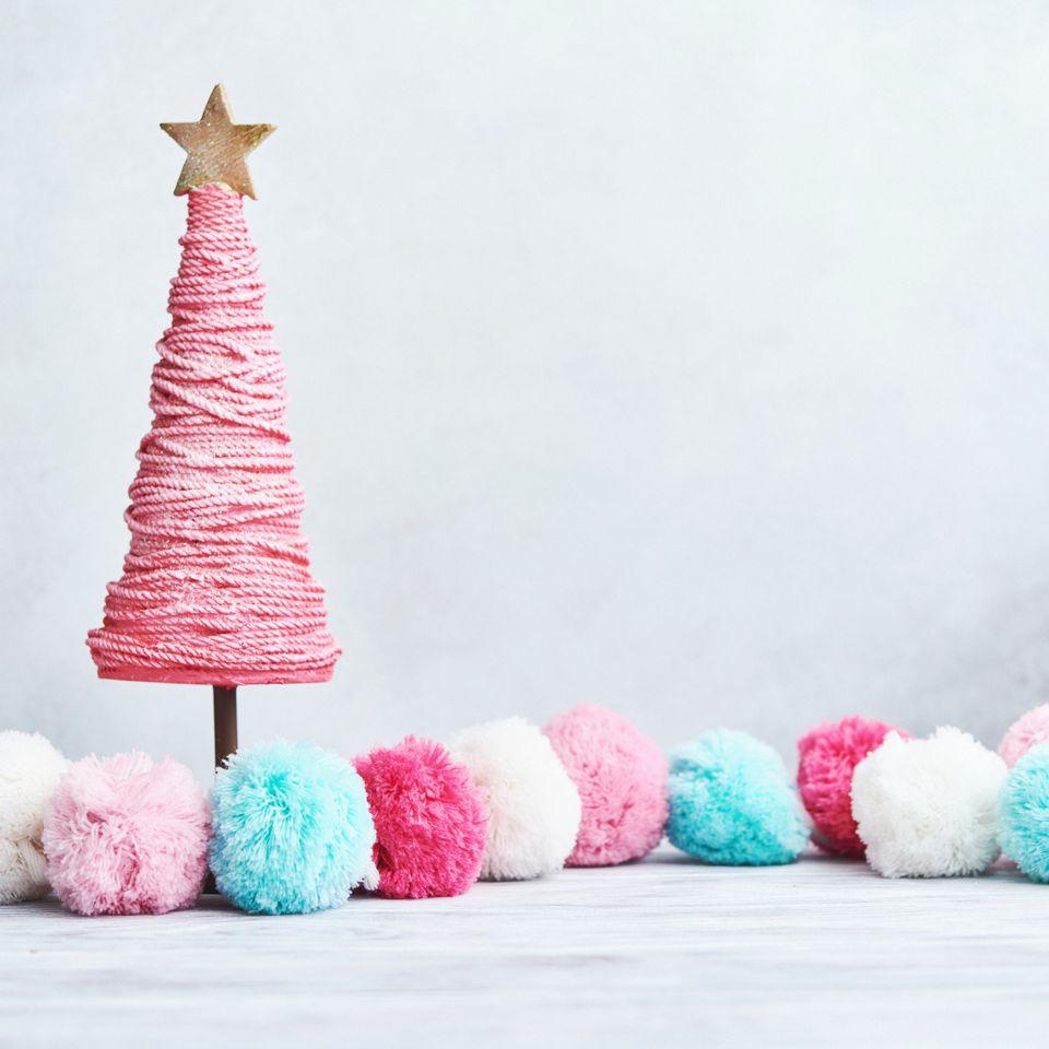 A DIY pom-pom garland for any holiday