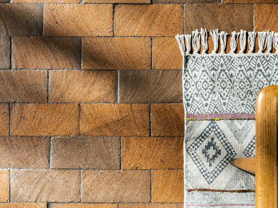 brick flooring in a home