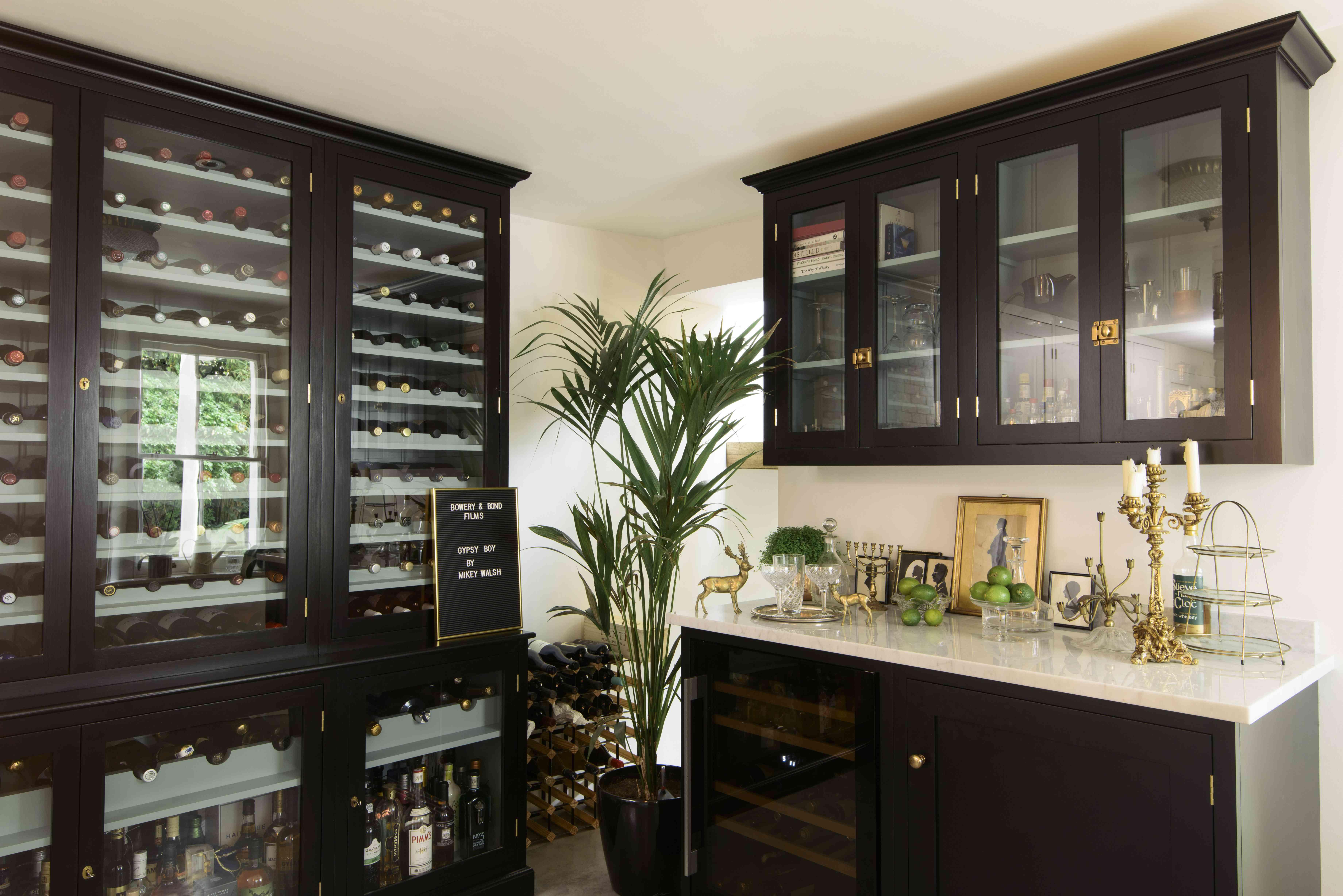 Basement kitchenette mini bar