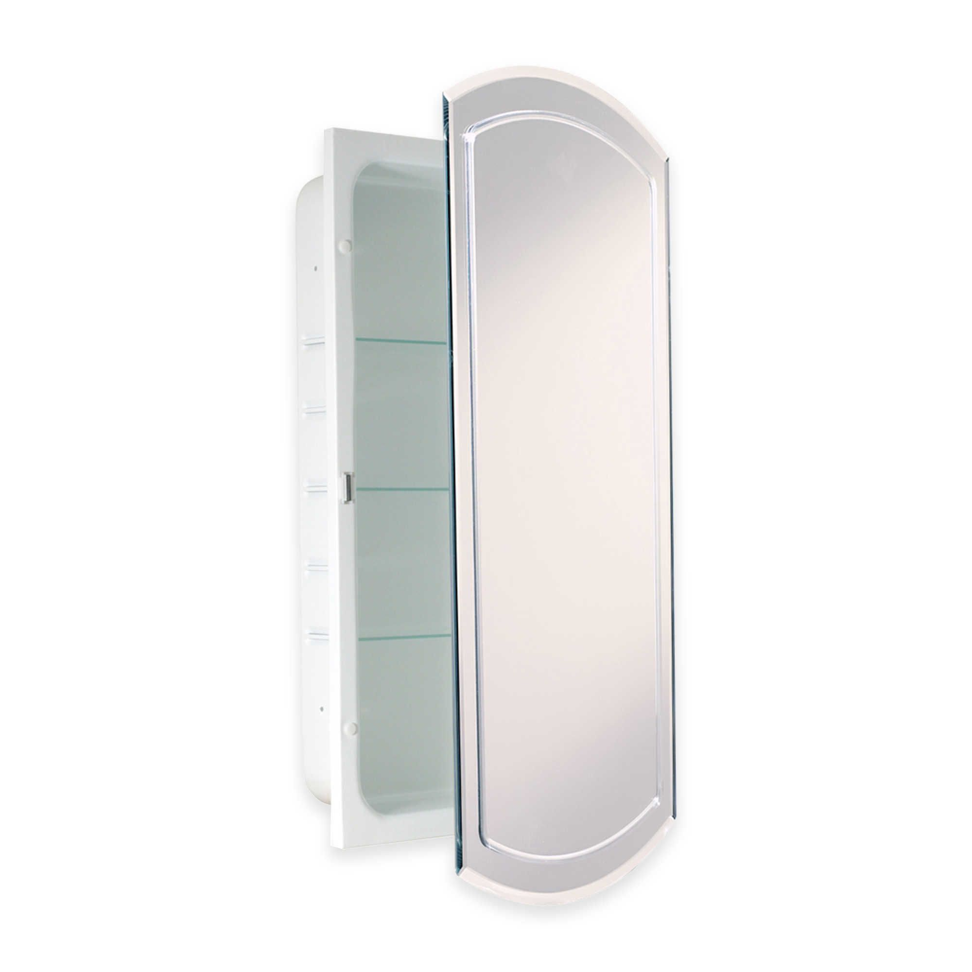 Best Unique Shape Recessed V Groove Beveled Mirrored Medicine Cabinet