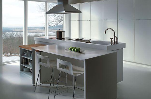 idea contemporánea de cocina blanca , idea de cocina blanca y verde