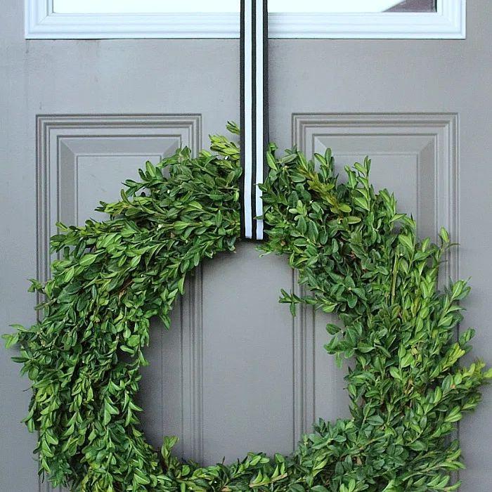 A boxwood wreath