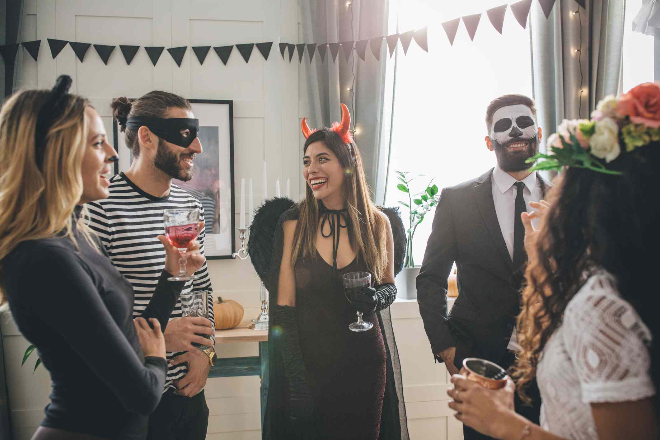 Halloween party guests