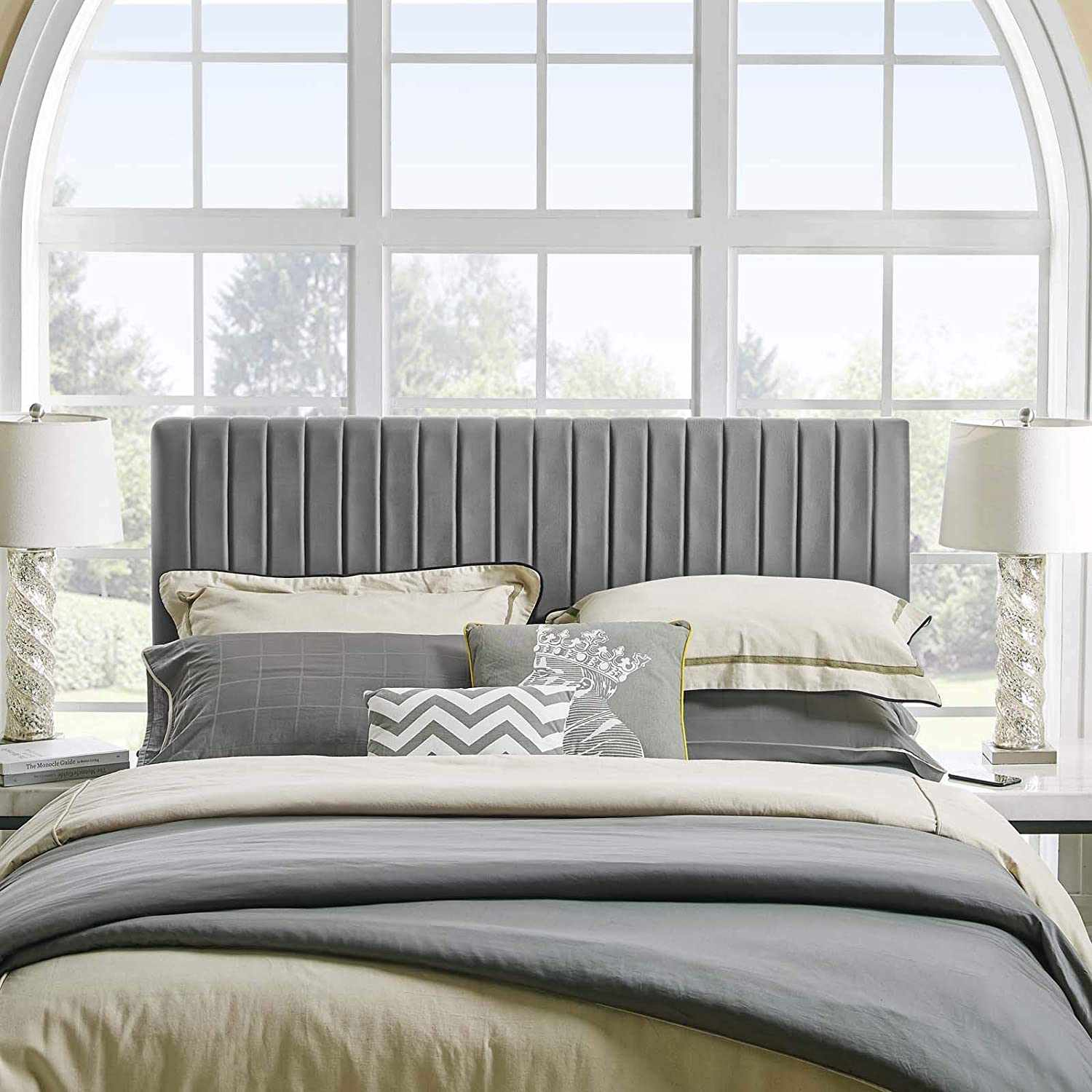 Keira Channel Tufted Upholstered Headboard