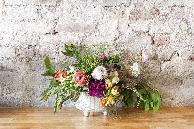 Final flower arrangement