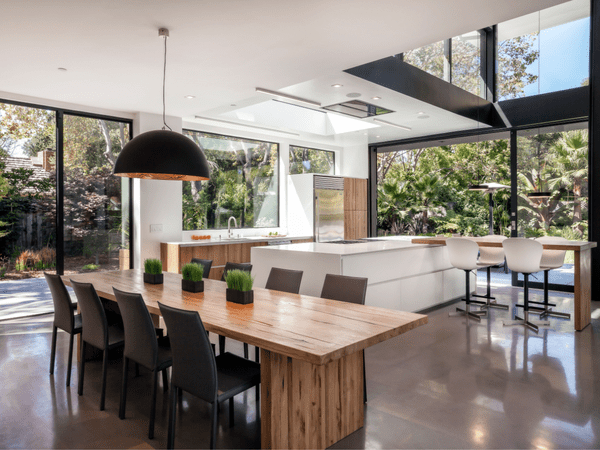 kitchen with organic elements