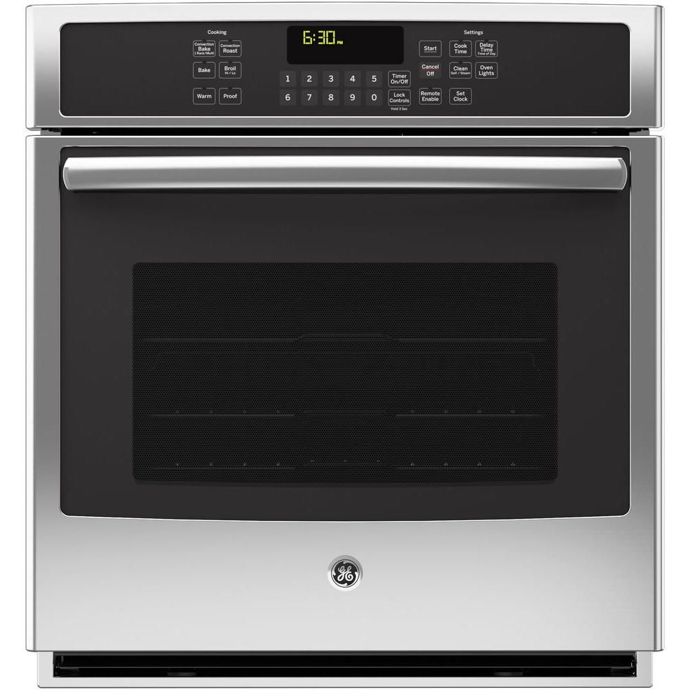 GE Profile 27 in. Single Electric Smart Wall Oven Self-Cleaning with Steam Plus Convection and WiFi in Stainless Steel