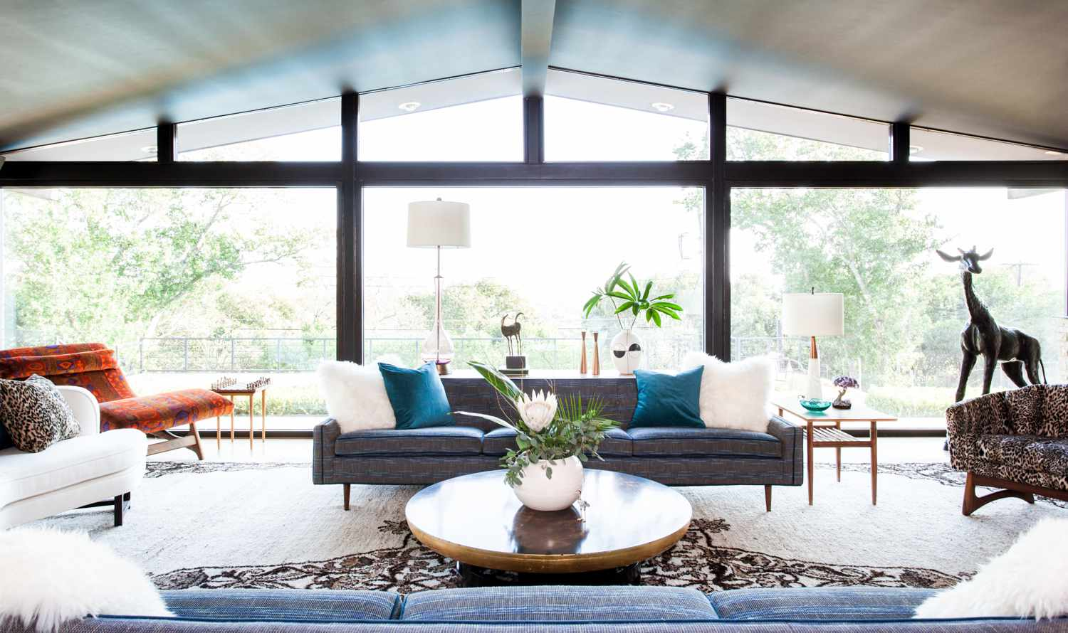 Mid-century living room.