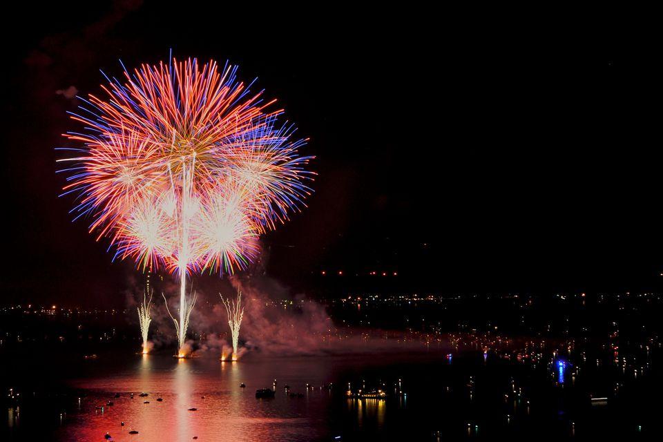 Fireworks, South Shore, Lake Tahoe, NV.